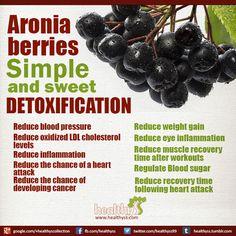#Detoxification #Aronia berries