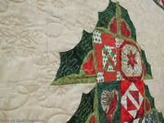 close up, Dear Jane Christmas quilt by Netty Soares, quilted by Suzi Dillinger.  2013 DVQG.  Photo by Quilt Inspiration