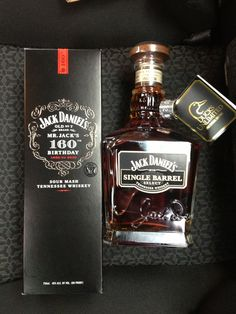 Jack Daniel's 160th Birthday Whiskey & Jack Daniel's Single Barrel Select Whiskey Ducks Unlimited Edition Bottle. Purchased at Jack Daniel's distillery 12/30/12.