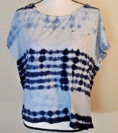Style&Co. Women's T-Shirt Size 2XL Shibori Print Blue Hippy BoHo Peasant Tie Dye | Clothing, Shoes & Accessories, Women's Clothing, Tops & Blouses | eBay!