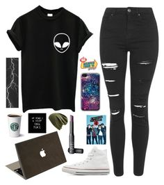 """Untitled #747"" by chill-outfits ❤ liked on Polyvore featuring Topshop, Converse, Valentine Goods, NARS Cosmetics, Echo, Chanel, women's clothing, women's fashion, women and female"
