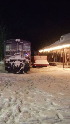 Dec 10, 2016 - Staff arrive early to fire up the coal-burning stoves in the kitchen car and get the train ready for Santa Train.