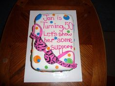 50th birthday cake — Over the Hill