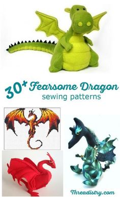 Game of Thrones has got me thinking for dragons. Here's a great collection of dragon sewing patterns, including stunning dragon cross-stitch patterns, dragon soft toys, quilt designs and costumes. Now I can be the mother of dragons too!