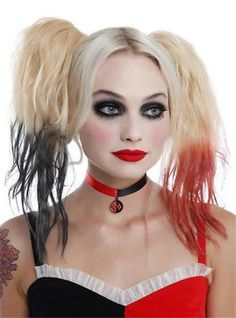 DC-Comics-Licensed-Black-Red-CHOKER-Necklace-HARLEY-QUINN-COSTUME-Prop-COSPLAY