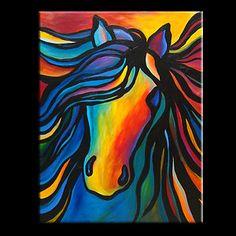 Beautiful Horse Abstract Paintings Beautiful freisian equine | Art ...
