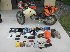 Repost: Dave's Motorcycle Adventure Touring Packing List & Oil Bottle Tool Kit | Go Light. Go Fast. #cafe #motorcycle #moto