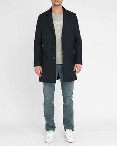 Navy Lewis Wool Cloth Coat A.P.C.