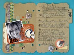 A Circle Journal - starring Willow Creek Journal Ideas Smash Book, Scrapbook Supplies, Scrapbooking Ideas, Favorite Things Party, Willow Creek, One Day I Will, Write It Down, Book Making, Life Inspiration