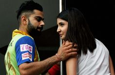 PHOTOS: Here Are Virat Kohli And Anushka Sharma Giving Us All  Skipper Virat Kohli took a moment during the Royal Challengers Bangalore and Delhi Daredevils IPL match to spend some time with his girlfriend actor Anushka Sharma as rain played spoilsport in Bengaluru on Sunday.