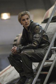 Battlestar Galactica's Starbuck (Kara Thrace), played by Katee Sackhoff.