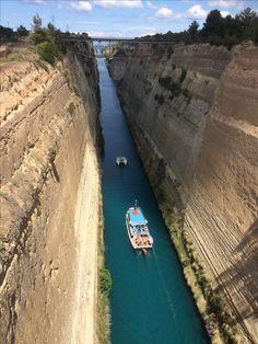 Mei 2017. Kanaal van Korintië, Griekenland