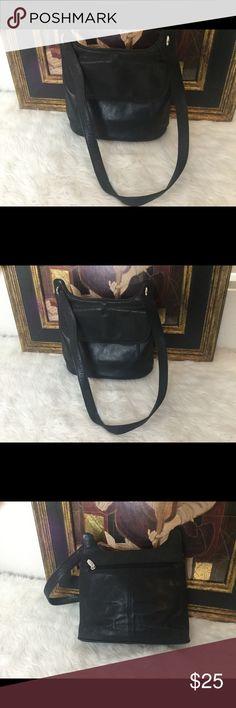 Rolf's Black Genuine Leather Bag. Rolf's black Genuine leather bag measures 10x9. In good shape! rolfs Bags Shoulder Bags
