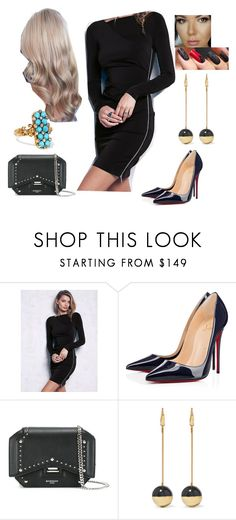 """""""Bez tytułu #14494"""" by sophies18 ❤ liked on Polyvore featuring Free People, Christian Louboutin, Givenchy, Isabel Marant and Fred Leighton"""