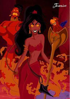 Jasmine (in the style of Jeffrey Thomas' Twisted Princess series)