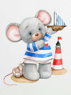 Baby Room Paintings, Baby Painting, Painting For Kids, Cute Images, Cute Pictures, Tatty Teddy, Teddy Bear, Baby Illustration, Fancy Fonts