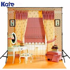 Honest Allenjoy Girl Birthday Backdrop Baby Shower 1st Invitation Celebration Party Blue Curtain Bow Table Banner Photocall Background Background