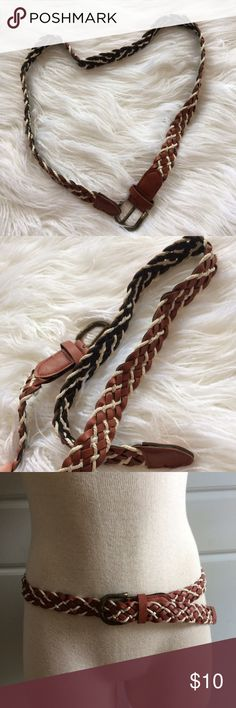 Braided rope belt Cute braided belt with rope detail. Size s Accessories Belts