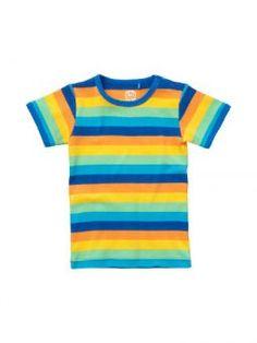 ej sikke lej Shirt SS Organic Striped blue