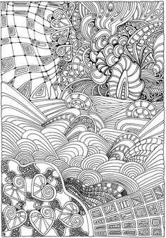 Coloring page for grown ups