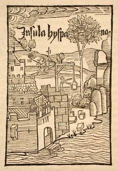 Fort of La Navidad in Hispaniola in Christopher Columbus' first voyage. De insulis nuper in mar Indico repertis, 1493 pic.twitter.com/r58PxRb5Zt