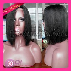 Find More Wigs Information about GQ Hot bob wig! italian yaki full lace wig Brazilian lace front wigs U part human hair wigs for african americans with baby hair,High Quality Wigs from Glamour Fashion Hair CO.,LTD on Aliexpress.com