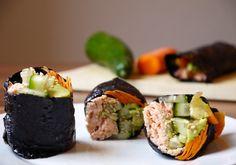 Simple Salmon Veggie Nori Rolls (Rice-Free!)   Jules' Fuel