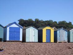 Beach huts back beach