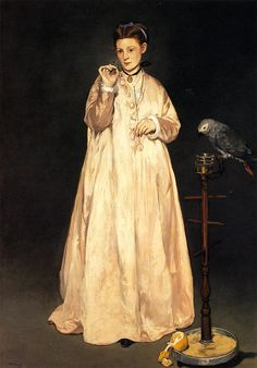 'Manet Paints Monet' by Colin B. Bailey - Édouard Manet: Woman with a Parrot, 1866.