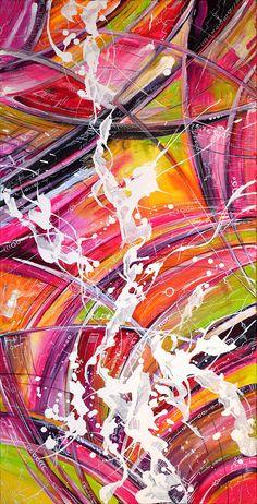 """Картина на холсте абстракция """"Candy Ecstasy"""" 40х80, акрил, фото 1"""