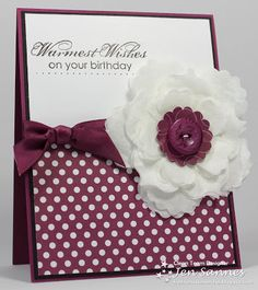 Stampin' Up! Fun Flower Birthday  by Jen Sannes at Simple & Sincere: Coffee Filter Flower