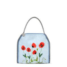 Falabella Denim Botanical Small Tote - Stella Mccartney Official Online Store - SS 2016