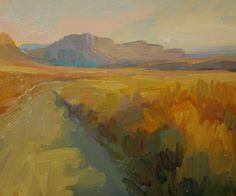 Kathryn Townsend Painting Studio: Desert Evening