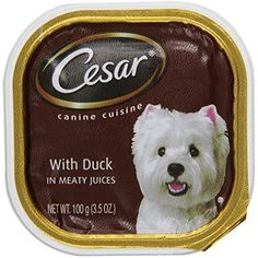 CESAR Canine Cuisine with Duck Dog Food Trays 3.5 Ounces (Pack of 24) -- You can read more reviews of the product by visiting the link on the image. (This is an affiliate link and I receive a commission for the sales)