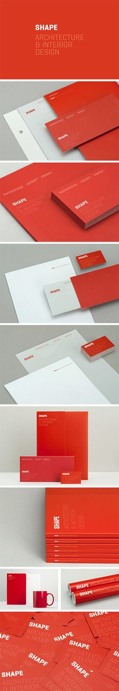 identity / shape design / red