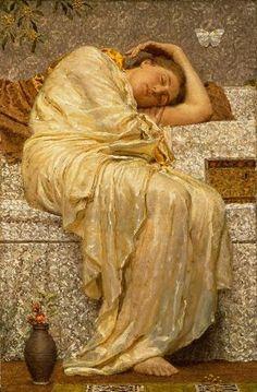 Moore, Albert Joseph (1841-1893) - 1880c. Acacias (Carnegie Museum of Art, Pittsburg, Pennsylvania)