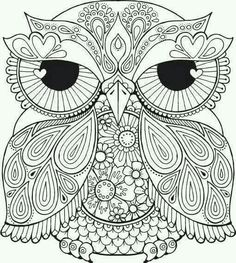 Coloring Page Adult Owl Printable Source By Lechuza