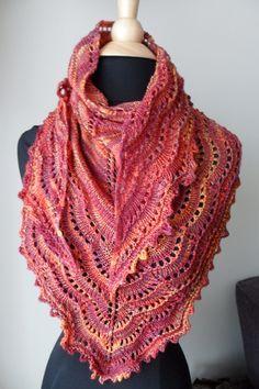 elosie hand knit scarf.