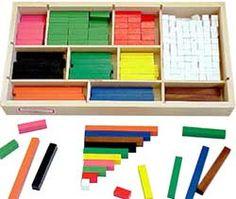 Les réglettes cuisenaire - les nombres en couleur pour un apprentissages des maths grâce à la manipulation
