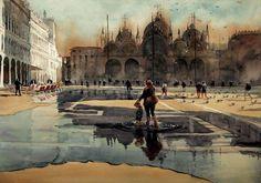"""Kazuo Kasai, """"Acqua Alta """"   Venice"""