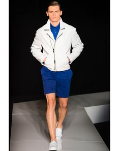 "Joseph Abboud   ""The white safari jacket with cobalt blue shorts.""—Jim Moore, GQ creative director"