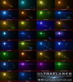 Ultraflares Flarepack Vol. Photoshop Plugins, Lens Flare, Software Development, Creative Director
