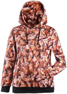 Autumn Winter Galaxy Print Punk Women Hoodies New Fashion Leaf Print Coat With Pocket Digital Print Hooded Pullovers