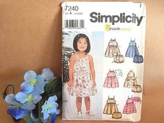 Toddler's Clothes Sewing Pattern Uncut by TKSPRINGTHINGS on Etsy