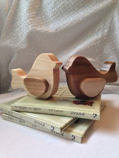 Decorative Wood Love Birds by BeingReMade on Etsy