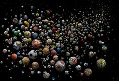 Artist Mandy Barker created an exhibit inspired by soccer and ocean debris. These soccer ball ocean debris images were created from actual garbage around the world.