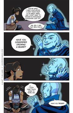 Have you considered growing a beard? #Korra #Aang