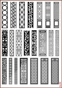 22 different design dxf file Gate Design, Door Design, House Design, Design Design, Laser Cnc Machine, Jaali Design, Cnc Cutting Design, Motif Art Deco, Window Grill Design