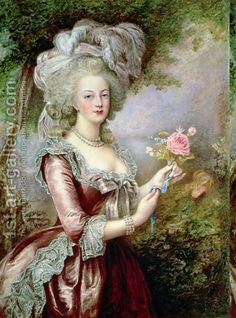 Louise Campbell Clay:Marie Antoinette (1755-93) after Vigee-Lebrun