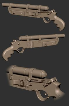 Homebrew Shotgun that took inspiration on a couple of internet images of homebrew weapons. Rendered in marmoset2.  FULL RES: http://www.edgesize.com/crap/homebrew_shotgun.png